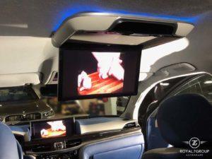 вывод видео на задний монитор лексус