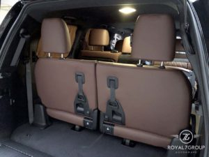 коричневый третий ряд сидений на тойота ланд круер 200 royal7group r7b autogrape