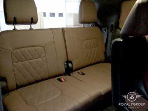 коричневый третий ряд сидений на тойота ланд круер 200