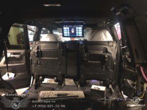 потолочный монитор и мультимедиа тойота крузер 200